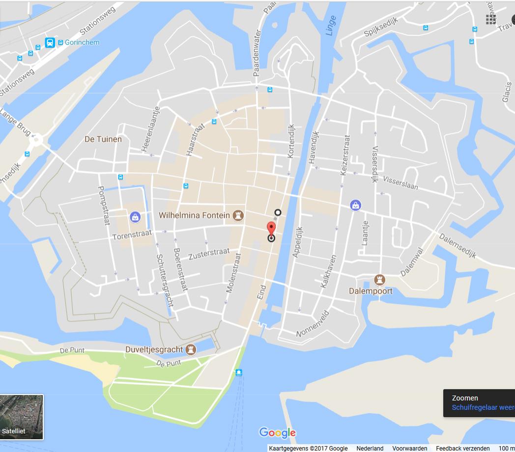 Kaart Gorinchem Langendijk 42 Gusto