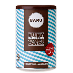 baru fluffy marshmallow chocolate powder