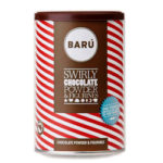 baru swirly chocolate powder