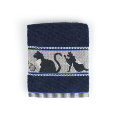 Bunzlau Castle Keukenhanddoek Cats Dark Blue