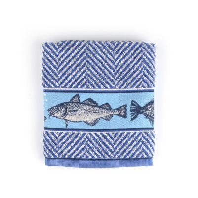 Bunzlau Castle Keukenhanddoek Fish Royal Blue